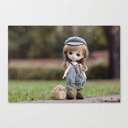 Baby & Puppy Canvas Print