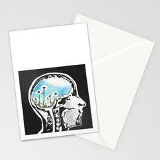 Brain Flowers Stationery Cards