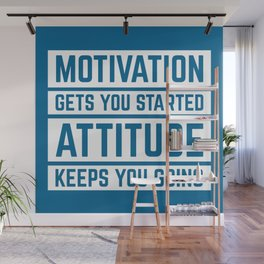 Motivation Gets You Started Gym Quote Wall Mural
