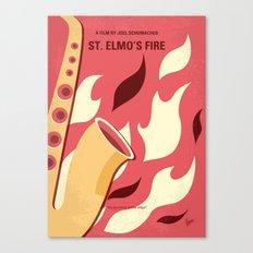 No657 My St Elmos Fire minimal movie poster Canvas Print