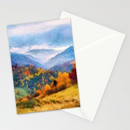 Autumn in the mountains Stationery Cards