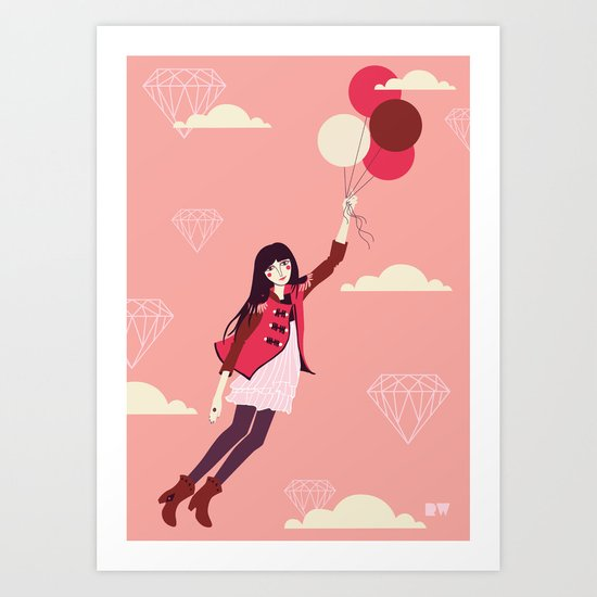 Lucy in the Sky Art Print