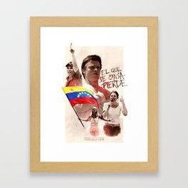 Venezuela's Resistance Framed Art Print