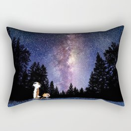 calvin and hobbes in the night large Rectangular Pillow