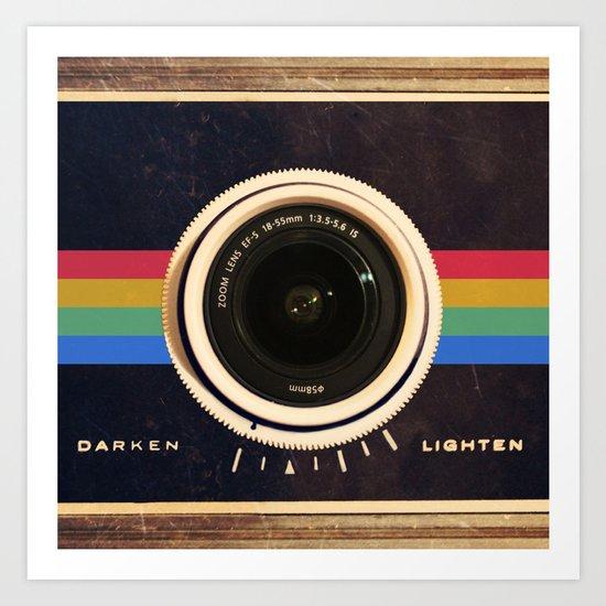 Modern Vintage inspired Camera! Art Print