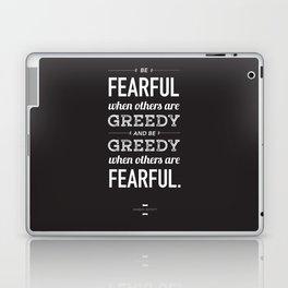 Buffett   Be Fearful When Others Are Greedy   Black Laptop & iPad Skin