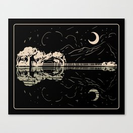 Guitar Lake Shadow Canvas Print