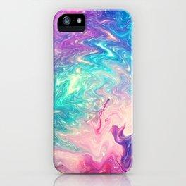 COLORFUL LIQUID MARBLE iPhone Case