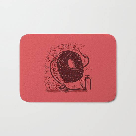 Donut Waste Water Bath Mat