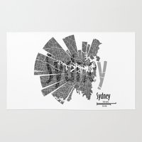 sydney Area & Throw Rugs featuring Sydney by Shirt Urbanization