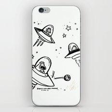 UFO Apes Play Ball iPhone & iPod Skin