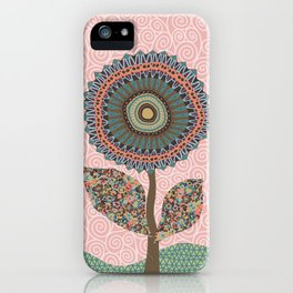 Fabby Flowers-Vintage colors iPhone Case