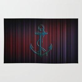 Anchor Stripes Watercolor Rug