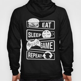 Eat Sleep Game Repeat | Video Game Console Gaming Hoody