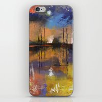 fireworks iPhone & iPod Skins featuring Fireworks by Michael Creese
