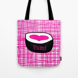 Sushi in the Grid Pink Tote Bag