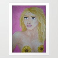 Mistress of Sunflowers Art Print