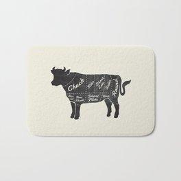 Beef Butcher Diagram Bath Mat