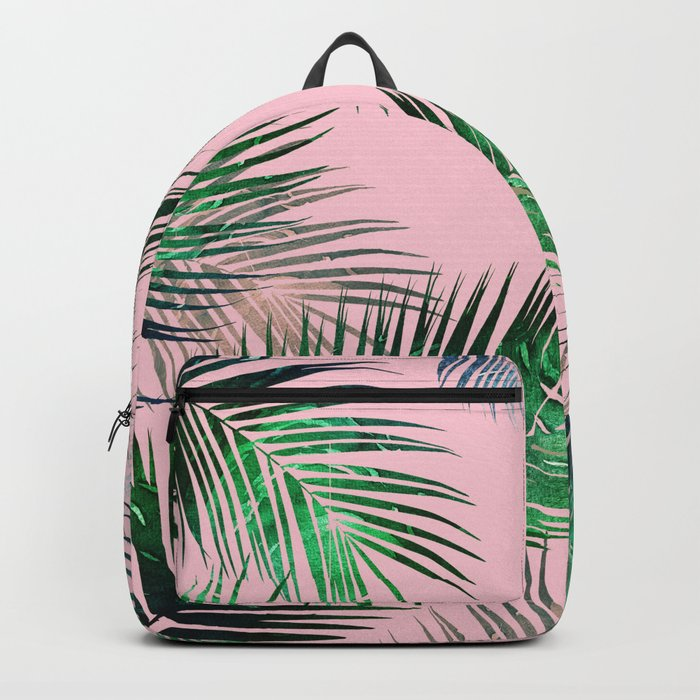 tropical nature pink Backpack