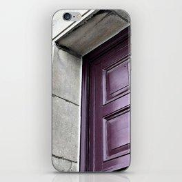 A Simple Purple Door iPhone Skin