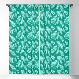 Woodland Fern Pattern, Turquoise and Aqua Blackout Curtain
