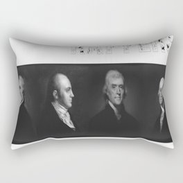 Best Rappers Ever - Hamilton (White text) Rectangular Pillow
