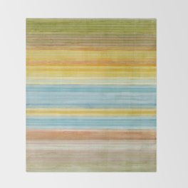 Colorbands Yellowstone Yellow Throw Blanket