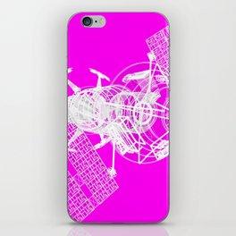 Explorer White on Pink iPhone Skin