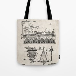 Brewing Beer Patent - Beer Art - Antique Tote Bag