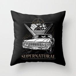 Supernatural Impala Black Throw Pillow