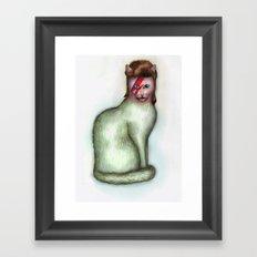 Cat Bowie Framed Art Print