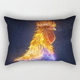 Fire Rooster Rectangular Pillow