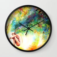 fishing Wall Clocks featuring FISHING by danyDINIZ
