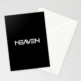 Heaven - Ambigram series (Black) Stationery Cards
