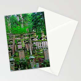 okunoin cemetery Stationery Cards