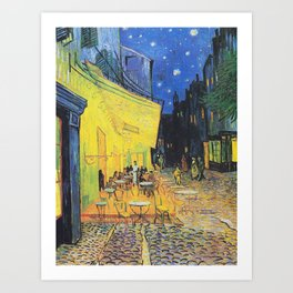 Café Terrace at Night by Vincent van Gogh Art Print