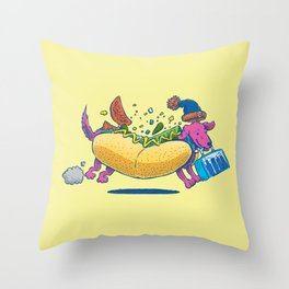 Chicago Dog: Lunch Pail Throw Pillow