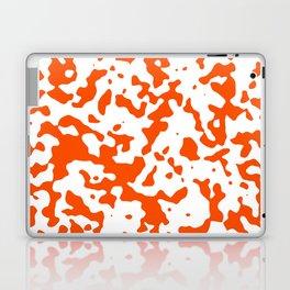 Spots - White and Dark Orange Laptop & iPad Skin