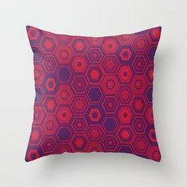 Purple Hex Throw Pillow
