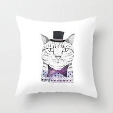 MR. CAT Throw Pillow