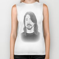 dave grohl Biker Tanks featuring Dave Grohl , Portrait Art by N_T_STEELART
