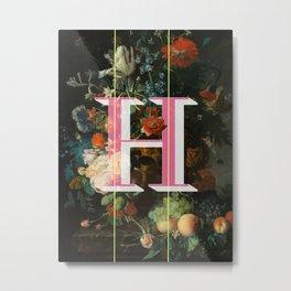 Letter H Metal Print