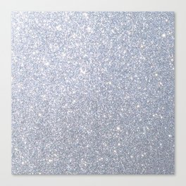 Silver Metallic Sparkly Glitter Canvas Print