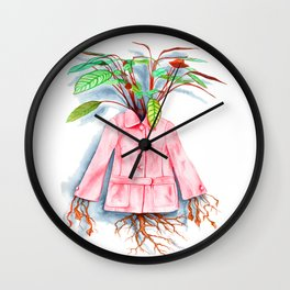 Inside Her Something Grows Wall Clock