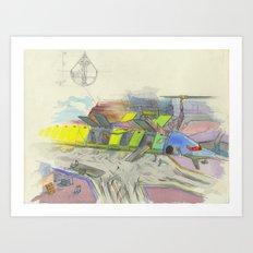 Seaport Art Print