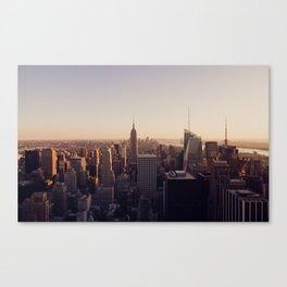 another Empire State Building shot   colored Canvas Print