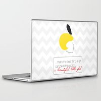 the great gatsby Laptop & iPad Skins featuring The Great Gatsby Daisy by raeuberstochter