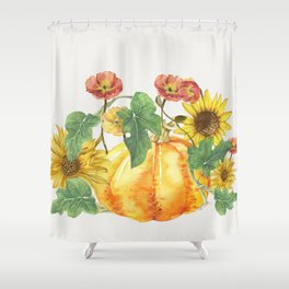 Morning Pumpkins Shower Curtain