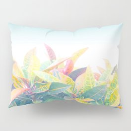 After the rain / Tropical Croton Leaves 4 Pillow Sham