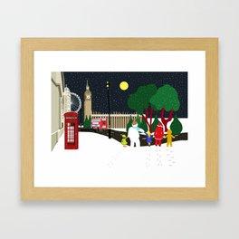 Christmas Gang in London Framed Art Print